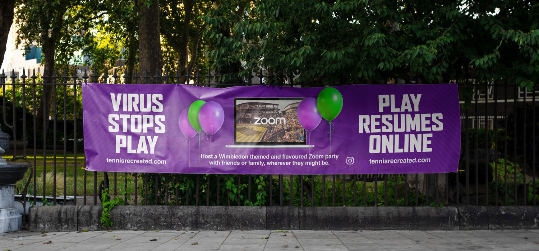 Tennis Recreated outdoor banner