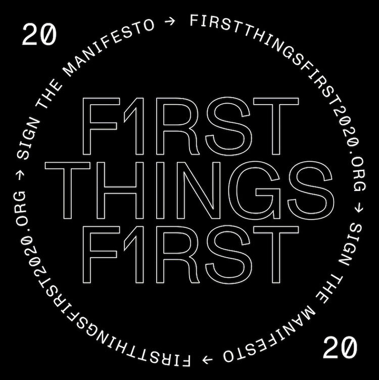 First Things First marquee